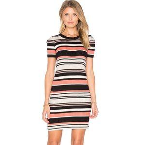 Louey Short Sleeve mini Striped Dress